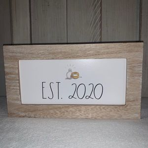 Raw Dunn Est. 2020 sign